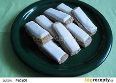 Pařížské tyčinky od maminky Eastern European Recipes, Czech Recipes, Russian Recipes, Christmas Cookies, Sweet Recipes, Fondant, Deserts, Dessert Recipes, Food And Drink