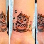Small Owl Tattoo Design Idea Ideas