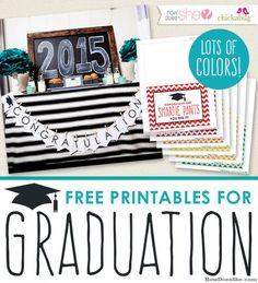 Free Printables for Graduation!!