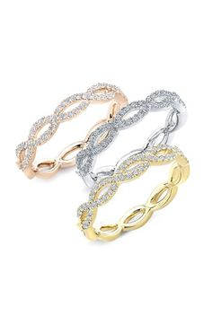 Bony Levy Stackable Diamond Weave Ring (Nordstrom Exclusive) available at #Nordstrom