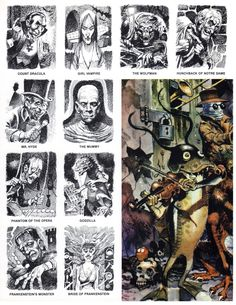 Various monsters and creatures by legendary (Mad magazine) cartoonist Jack Davis, from Fanfare magazine, Illustrations, Book Illustration, Jack Davis, Mad Magazine, Monster Face, Classic Monsters, Creature Feature, Weird Pictures, Vintage Comics