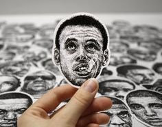 Vinyl sticker with the scribbled face of Stephen Curry - Currysticker