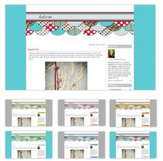 Super easy and custom blog templates that YOU get to design!