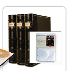 pretty dvd storage binders.  look like books.