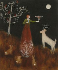 Artist Jeanie Tomanek draws upon themes that first developed in her poetry; exploring various feminine archetypes from myths, folk-tales and even her own experiences.
