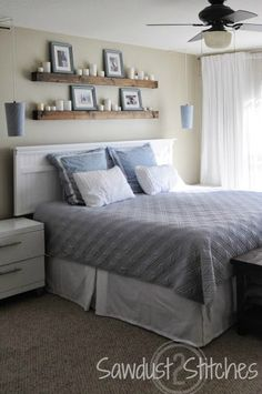 Prodigious ideas: floating shelf headboard ideas floating shelves bedroom above bed.floating shelves different sizes glasses. Shelf Over Bed, Shelves Over Couch, Headboard With Shelves, Bed Shelves, Shelf Wall, Shelving Over Bed, Wood Shelf, Rustic Shelves, Bedroom Wall Decor Above Bed
