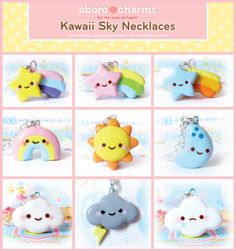Kawaii Sky Necklaces by =Oborochann - i miss my little cloud necklace..i wonder where it went?