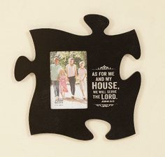 PUZZLE PIECES PHOTO FRAME AS FOR ME... -  JOSHUA 24:15  Connect Different Wall Mount Puzzle Pieces Including Photo Frames Available on American Christian Gift www.AmericanChristianGift.com