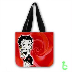 Cheap betty boop roses Tote Bags