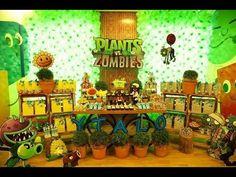 Cómo se hace un Girasol Plantas Vz Zombies especial de Halloween - YouTube Zombie Party Decorations, Birthday Party Decorations, Plants Vs Zombies, Zombie Birthday Parties, Boy Birthday, Plantas Versus Zombies, Zombie Apocalypse Party, Plant Zombie, Dinosaur Party