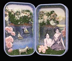 altered tin by Donna Howard
