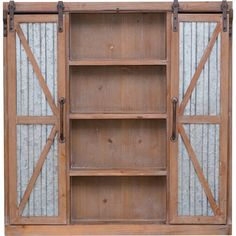 Westerly Barn Door x Galvanized Metal Wooden Cabinet Kitchen Pantry Cabinets, Rustic Cabinets, Antique Cabinets, Kitchen Tools, Kitchen Ideas, Barn Door Cabinet, Barn Doors, Sliding Doors, Ikea Furniture