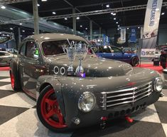 1953 Volvo PV444 with a 800 HP 3.4 L stroked 2JZ-GTE inline-six