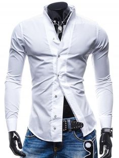 1280ce8d74b 2017 New Casual Shirts Long-Sleeved Mens Business Shirt Casual Slim Fit Male  Shirt Clothes chemise homme Asian Size M-XXL