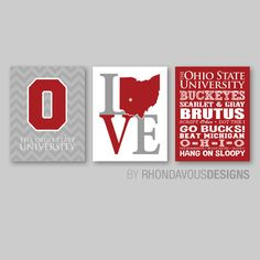The Ohio State University Wall Art  OSU wall by RhondavousDesigns2, $20.00