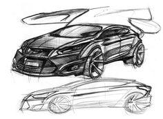 Car Design Resources, News and Tutorials Ford Focus Hatchback, Car Sketch, Concept Cars, Drawing Sketches, Buick, Beijing, Design, Transportation, Pencil