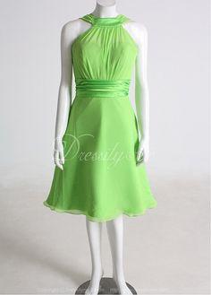 $96 Halter Chiffon A-Line Bridesmaid Dress