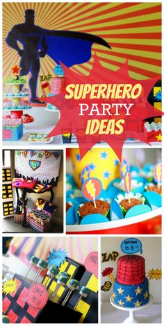 Check out this awesome Superhero boy birthday party with lots of creative ideas!  See more party ideas at CatchMyParty.com!