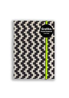 Grafika Black/White A6 Notebook