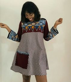 Latest Plain And Pattern Styles For Ladies: 55 Beautiful Plain And Patterned Ankara Designs 2019 African Fashion Ankara, Latest African Fashion Dresses, African Print Fashion, Ankara Styles For Women, Ankara Gown Styles, Ankara Gowns, Dress Styles, Robes Ankara, Short African Dresses