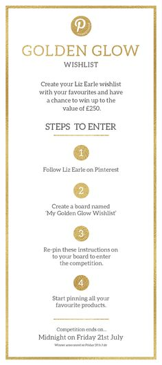 Your wish is our command... Create a Golden Glow Wishlist and pin your favourite Liz Earle products for your chance to win them all! T&Cs apply. http://lizearle.co/2s57gNR