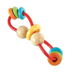 Shake it, twist it, chew it...this clever rattle holds a whole lot of play value!