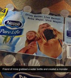 She Has a Big Mouth - My Friend Grabbed A Bottle of Nestle Pure Life Water ---- best hilarious jokes funny pictures walmart humor fail Uber Humor, Can't Stop Laughing, Laughing So Hard, Really Funny, The Funny, Scared Funny, Funny Troll, Funniest Snapchats, Funny Quotes