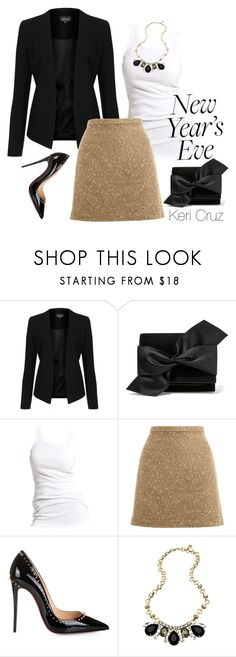 """""""New Year's Eve"""" by keri-cruz ❤ liked on Polyvore featuring Topshop, Victoria Beckham, Soaked in Luxury, Oasis, Christian Louboutin and Yochi"""