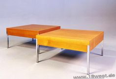 Two coffee tables from the 1960's, manufactured by Mauser.