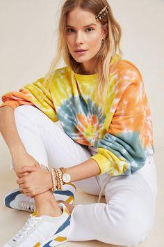 Agolde AGOLDE Richie Tie-Dyed Sweatshirt, #Anthropologie, commission link Bleach Tie Dye, Tye Dye, Bleach Pen, Tie Dye Fashion, Look Fashion, Mens Fashion, Fashion Tips, India Fashion, Japan Fashion