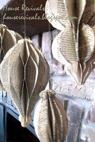 House Revivals: Honeycomb Ornament Tutorial- the actual instructions