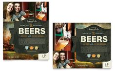 Pics, transparency, shapes  Brewery Poster Design