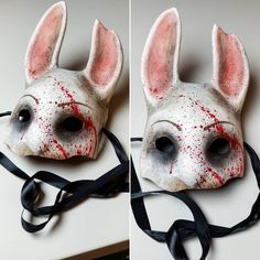 Are you going to July We just finished our booth giveaway item. Swing by my cosplay booth to enter! The Huntress Dead by Daylight. Creepy Masks, Cool Masks, Halloween Cosplay, Halloween Costumes, Dead Bunny, Huntress Costume, Rabbit Art, Bunny Rabbit, Bunny Mask