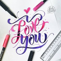 Handlettering - Inspiration love you - handlettering How Fire-Safe Is Your School? Brush Lettering Quotes, Hand Lettering Tutorial, Doodle Lettering, Hand Lettering Quotes, Creative Lettering, Script Lettering, Lettering Styles, Calligraphy Letters, Lettering Design