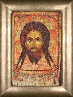 Holy Face Antique Icon, counted cross-stitch