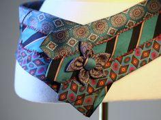 Correa corbata Vintage turquesa por HiButterfly en Etsy