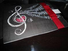 convite de tema de nota musical | Convite Casamento modelo nota musical