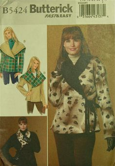 Reversible Jacket Set  2000's  Butterick door patterntreasury