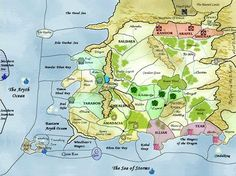 Map from Wheel of Time by Robert Jordan From: geek with curves ...