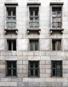 Detail of the facade of the former Reichsministerium für Volksaufklärung und Propaganda (now Bundesministerium für Arbeit und Soziales) in Berlin by Karl Rechle. I like the austere quality of the timeless classical facade. Photo by NOMAA|marco jongmans.