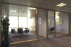 Office And Factory Renovation: Glass Office Partitions Create A Pleasant Working Environment Glass Office Doors, Glass Office Partitions, Glass Partition, Glass Doors, Clinic Interior Design, Interior Design Software, Office Break Room, Office Spaces, Glass Wall Systems