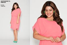 Love this pink dress from Zizzi, plus size. Wedding wear?