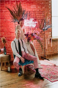 """""""I would love if real couples took not just colour and style inspiration from this shoot but 'vibe inspiration'. We wanted to capture the… Loft Wedding, Wedding Shoot, Dream Wedding, Wedding Decor, Crazy Wedding, Warehouse Wedding, Wedding Backdrops, Gothic Wedding, Glamorous Wedding"""