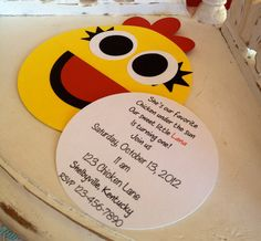 Handmade Custom Chica Birthday Invitations Set by whimzycreations - These would be perfect!