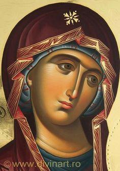Virgen Byzantine Icons, Byzantine Art, Religious Icons, Religious Art, Writing Icon, Architecture Religieuse, Madonna And Child, Catholic Art, Art Icon