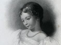 Lord Byron's daughter Ada was born on 10th December 1815 to his wife Ann Isabella Milbanke, who left Byron the following year. The poet always had great affection for his daughter, happy that her appearance reminded him very much of his wife. 'Is thy face like thy mother's, my fair child ! / Ada ! sole daughter of my house and heart' / When last I saw thy young blue eyes they smiled ... (Childe Harold's Pilgrimage, Canto III, I). Engraved by W.H. Mote, after a drawing by F. Stone.