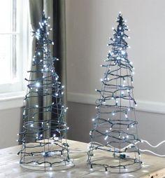 DIY: Tomato Cage Christmas Tree Lights   17 Apart: DIY: Tomato Cage Christmas Tree Lights