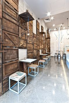 Raw Trader is a specialty raw-dessert bar in Melbourne CBD specializing in all things vegan, organic, paleo, gluten free, dairy free and sugar free.  Studio Y's new design for Raw Trader combines raw and contemporary style. The...