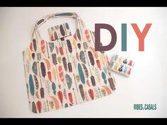 Tutorial DIY: ¿Cómo hacer una bolsa de tela para la compra? - YouTube