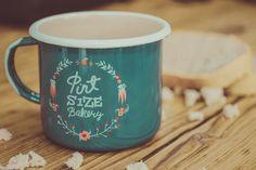 Emalco Enamelware Pint Size Bakery enamel mug